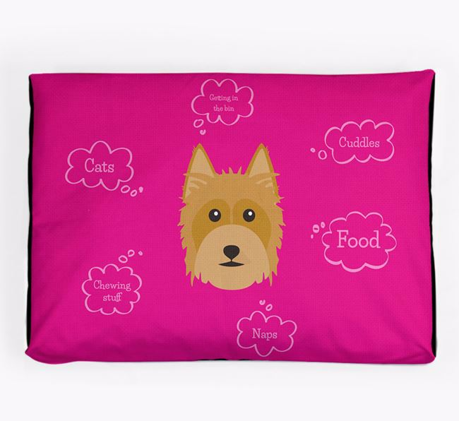 Personalised 'Sweet Dreams' Dog Bed for your Australian Silky Terrier