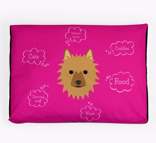 Personalised 'Sweet Dreams' Dog Bed for your Australian Terrier