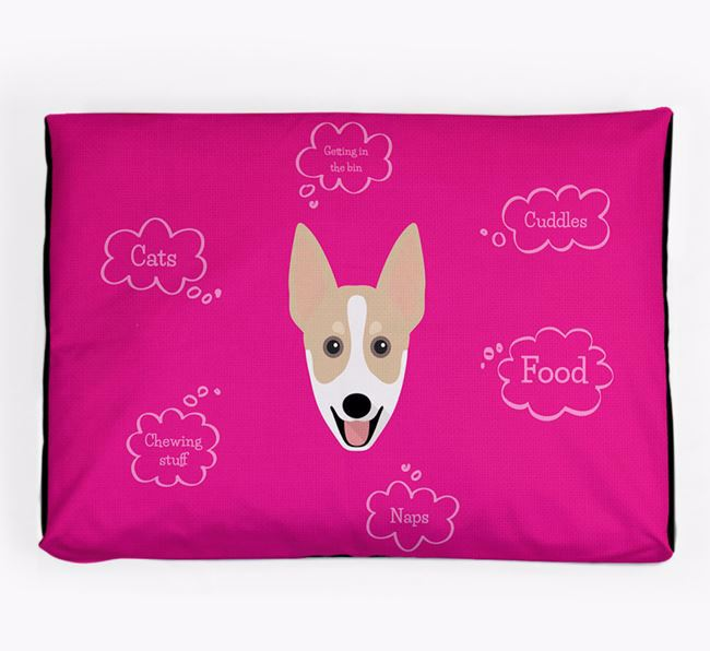Personalised 'Sweet Dreams' Dog Bed for your Australian Working Kelpie