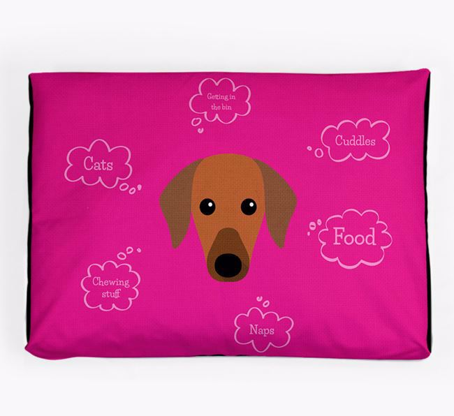 Personalised 'Sweet Dreams' Dog Bed for your Azawakh