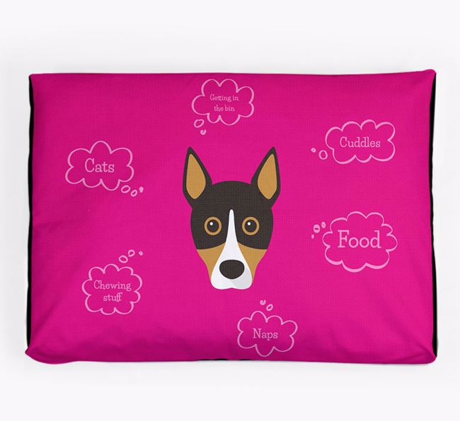 Personalised 'Sweet Dreams' Dog Bed for your Basenji