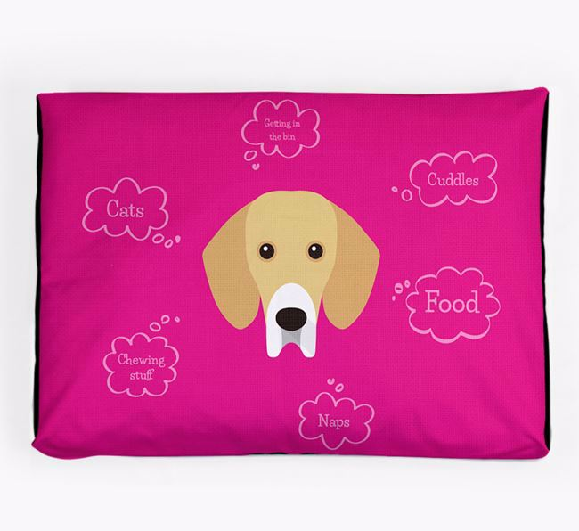 Personalised 'Sweet Dreams' Dog Bed for your Bassador