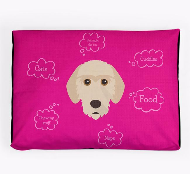 Personalised 'Sweet Dreams' Dog Bed for your Basset Fauve De Bretagne