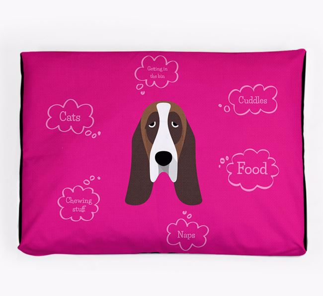 Personalised 'Sweet Dreams' Dog Bed for your Basset Hound