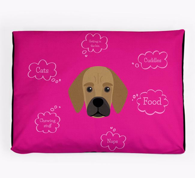 Personalised 'Sweet Dreams' Dog Bed for your Bassugg