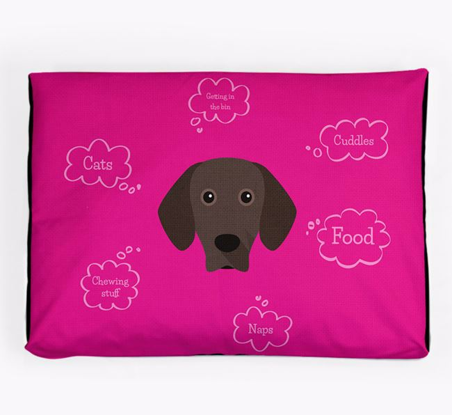 Personalised 'Sweet Dreams' Dog Bed for your Bavarian Mountain Hound