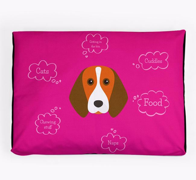 Personalised 'Sweet Dreams' Dog Bed for your Beagle