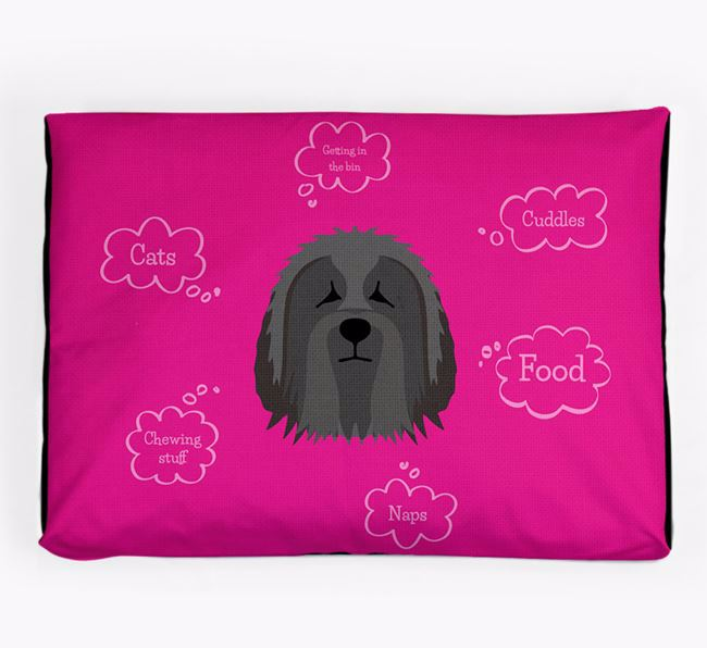 Personalised 'Sweet Dreams' Dog Bed for your Bearded Collie