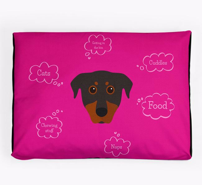 Personalised 'Sweet Dreams' Dog Bed for your Beauceron