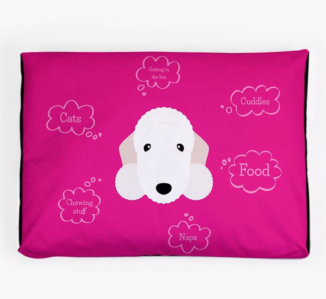 Personalised 'Sweet Dreams' Dog Bed for your Bedlington Terrier