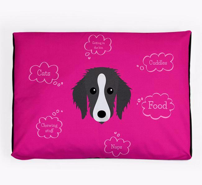Personalised 'Sweet Dreams' Dog Bed for your Bedlington Whippet