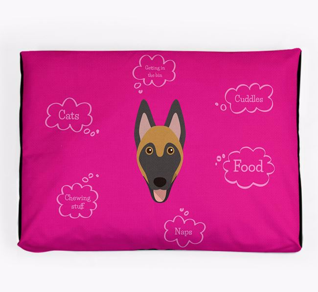 Personalised 'Sweet Dreams' Dog Bed for your Belgian Malinois