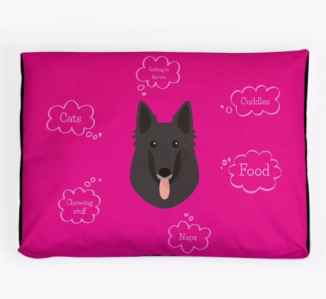 Personalised 'Sweet Dreams' Dog Bed for your Belgian Shepherd