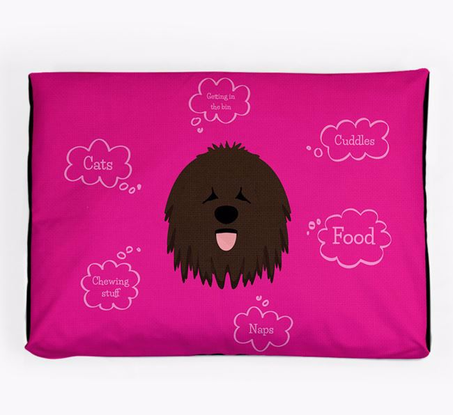Personalised 'Sweet Dreams' Dog Bed for your Bergamasco