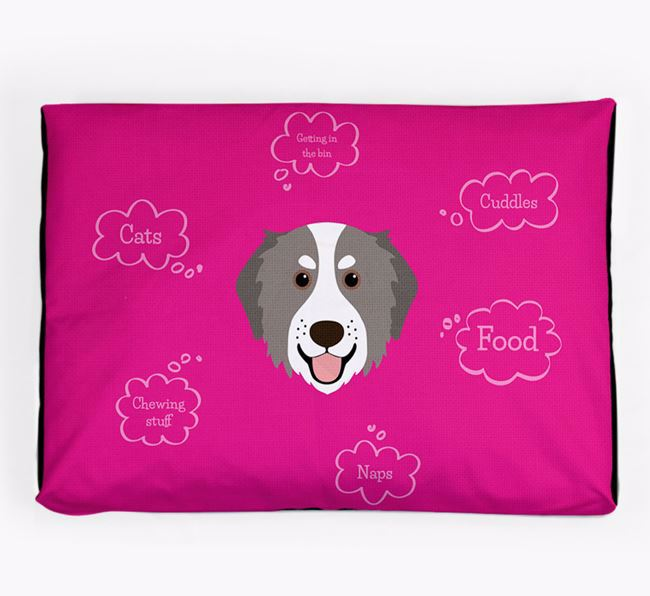 Personalised 'Sweet Dreams' Dog Bed for your Bernedoodle