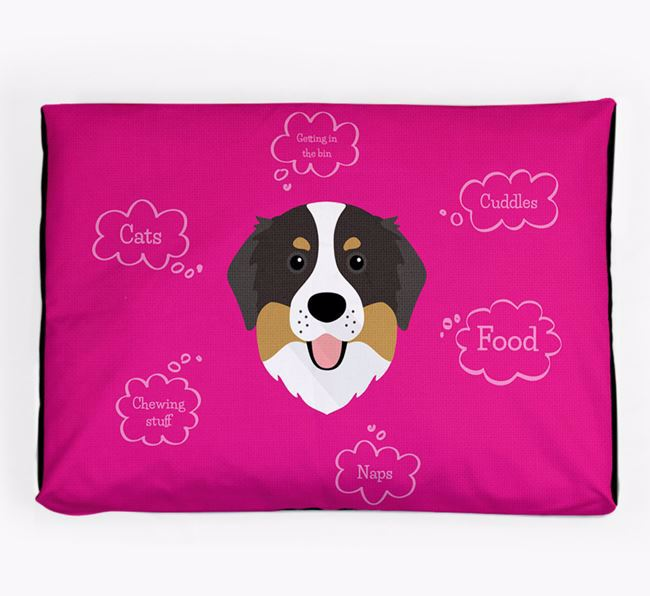 Personalised 'Sweet Dreams' Dog Bed for your Bernese Mountain Dog