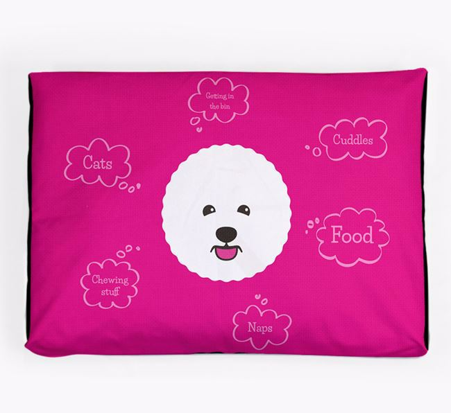 Personalised 'Sweet Dreams' Dog Bed for your Bichon Frise