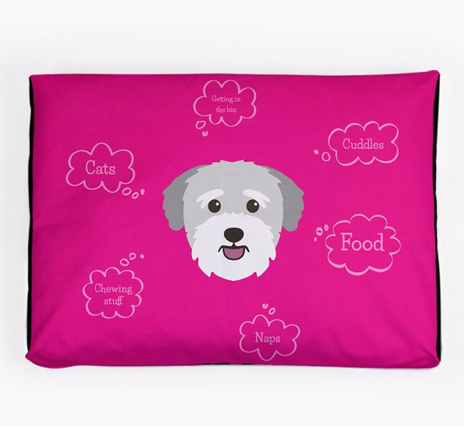 Personalised 'Sweet Dreams' Dog Bed for your Bichon Yorkie