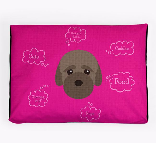 Personalised 'Sweet Dreams' Dog Bed for your Bich-poo