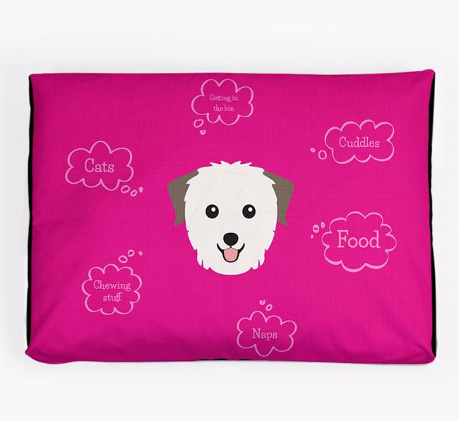 Personalised 'Sweet Dreams' Dog Bed for your Biewer Terrier