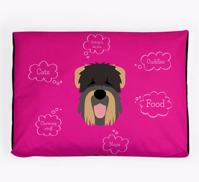 Personalised 'Sweet Dreams' Dog Bed for your Black Russian Terrier