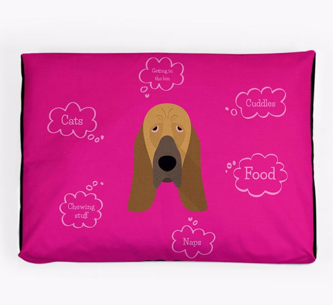 Personalised 'Sweet Dreams' Dog Bed for your Bloodhound
