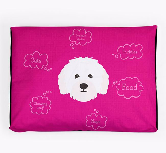 Personalised 'Sweet Dreams' Dog Bed for your Bolognese