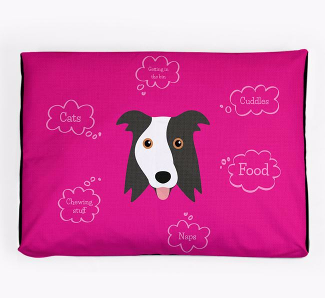 Personalised 'Sweet Dreams' Dog Bed for your Border Collie