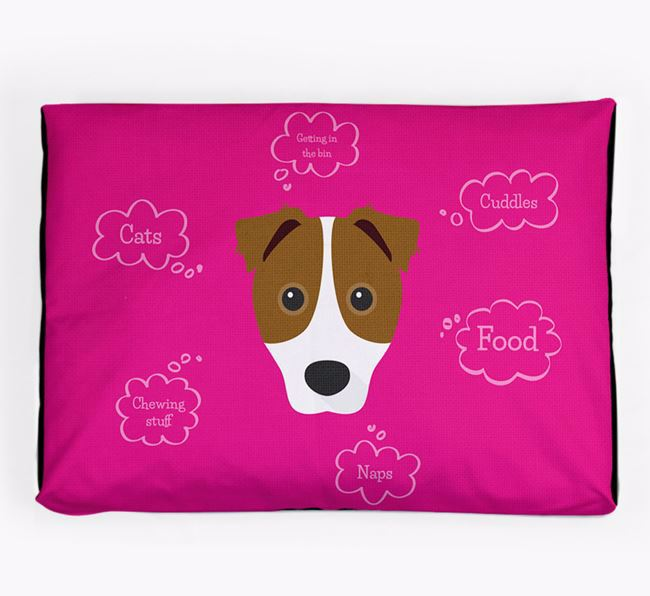 Personalised 'Sweet Dreams' Dog Bed for your Border Jack