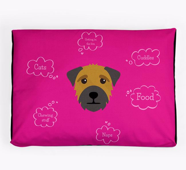 Personalised 'Sweet Dreams' Dog Bed for your Border Terrier