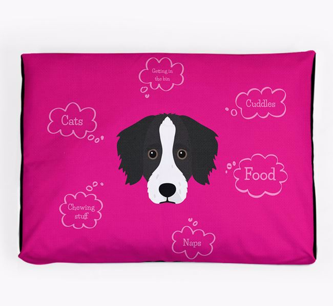 Personalised 'Sweet Dreams' Dog Bed for your Bordoodle