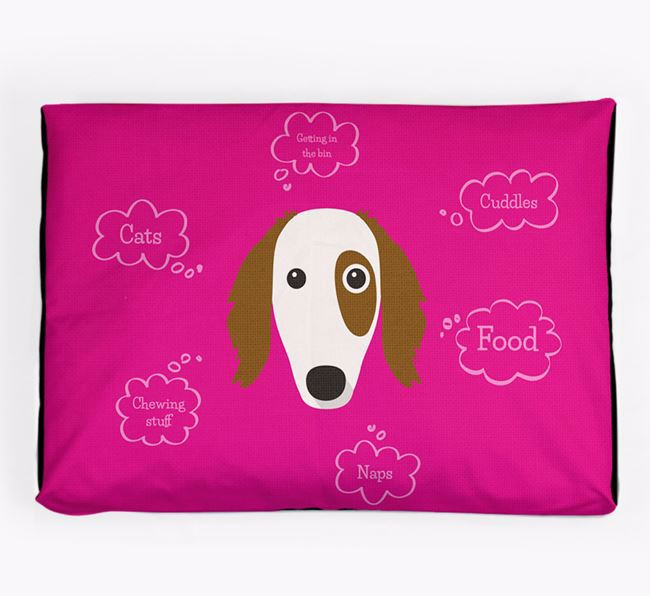 Personalised 'Sweet Dreams' Dog Bed for your Borzoi