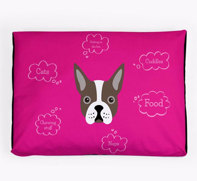 Personalised 'Sweet Dreams' Dog Bed for your Boston Terrier