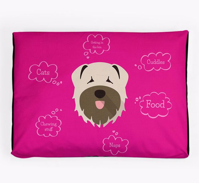 Personalised 'Sweet Dreams' Dog Bed for your Bouvier Des Flandres