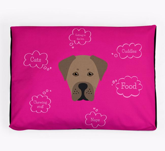Personalised 'Sweet Dreams' Dog Bed for your Boxador