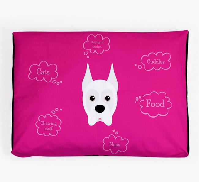 Personalised 'Sweet Dreams' Dog Bed for your Boxer