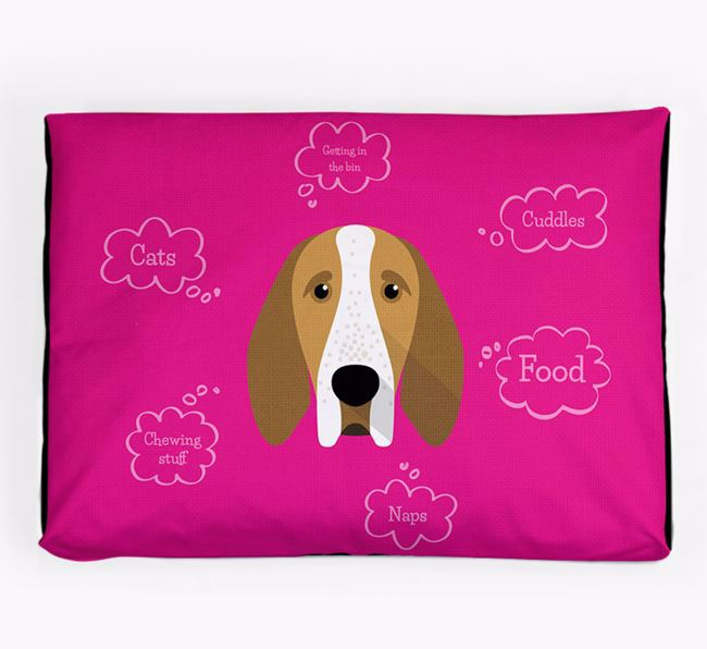 Personalised 'Sweet Dreams' Dog Bed for your Bracco Italiano