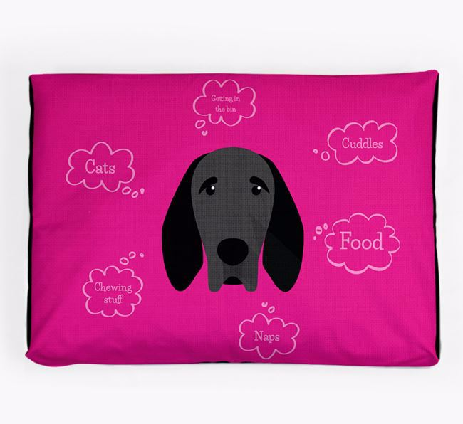 Personalised 'Sweet Dreams' Dog Bed for your Braque D'Auvergne