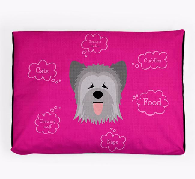 Personalised 'Sweet Dreams' Dog Bed for your Briard
