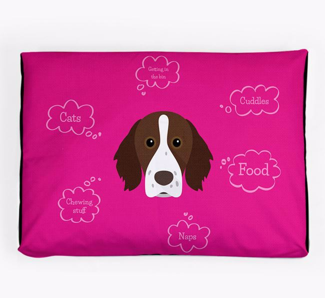 Personalised 'Sweet Dreams' Dog Bed for your Brittany