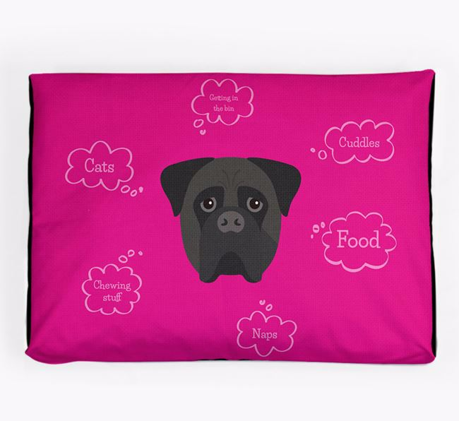 Personalised 'Sweet Dreams' Dog Bed for your Bullmastiff