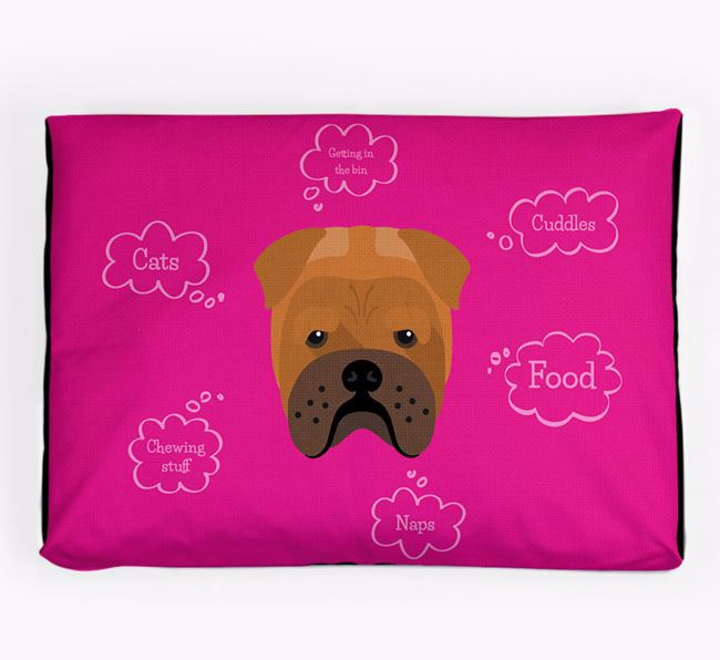 Personalised 'Sweet Dreams' Dog Bed for your Bull Pei