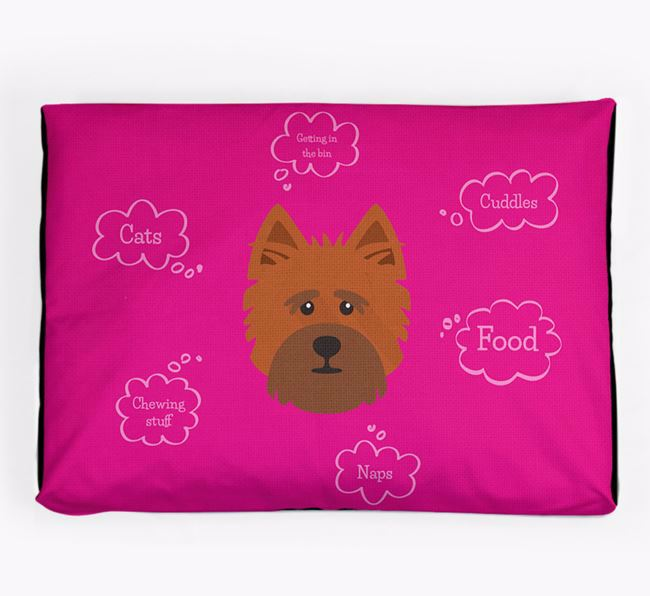 Personalised 'Sweet Dreams' Dog Bed for your Cairn Terrier