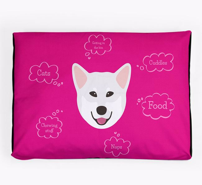 Personalised 'Sweet Dreams' Dog Bed for your Canadian Eskimo Dog