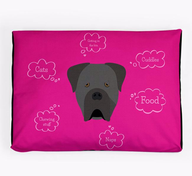 Personalised 'Sweet Dreams' Dog Bed for your Cane Corso Italiano