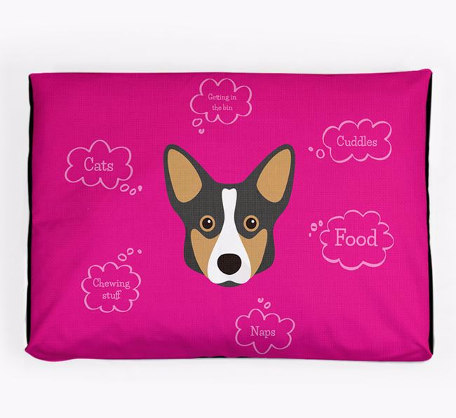 Personalised 'Sweet Dreams' Dog Bed for your Cardigan Welsh Corgi