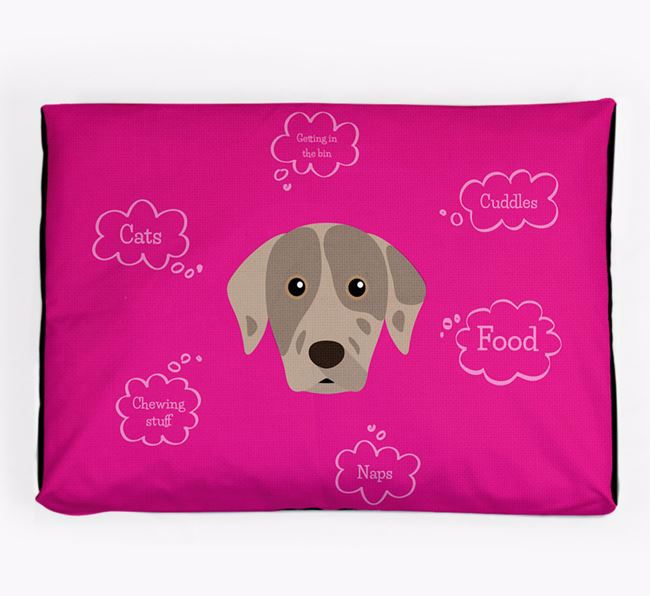 Personalised 'Sweet Dreams' Dog Bed for your Catahoula Leopard Dog