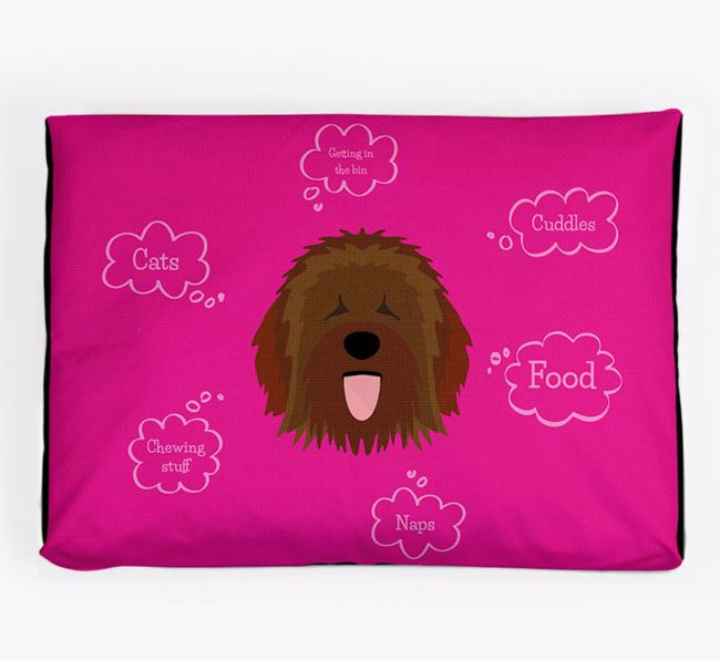 Personalised 'Sweet Dreams' Dog Bed for your Catalan Sheepdog