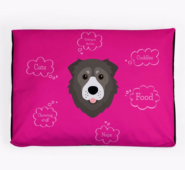 Personalised 'Sweet Dreams' Dog Bed for your Caucasian Shepherd Dog