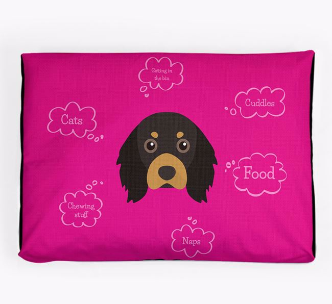Personalised 'Sweet Dreams' Dog Bed for your Cavalier King Charles Spaniel